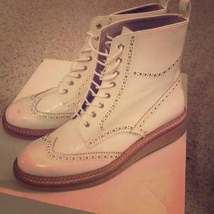 Zara Basic Women's Wingtip Boots Size 39 (8/8.5)
